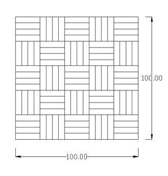 Pemasangan lantai kayu Mozaik Jati