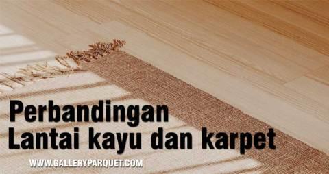 perbedaan karpet dengan lantai kayu