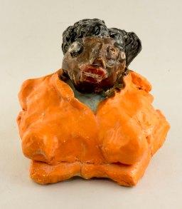 Rosa Parks - glazed ceramic by Aba Garbrah