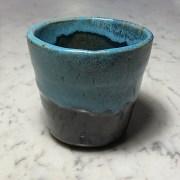 """Blue Cup, 2015 Hand thrown ceramic 3.5"""" x 3.25"""" x 3.25"""" $20"""