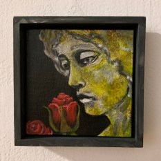 Stone Cold Roses Acrylic $65.00