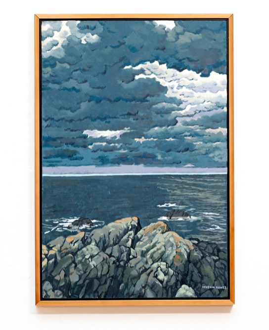 """North Sea Storm Oil on canvas 26"""" x 38"""" (framed) $7500.00"""