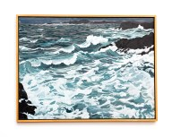 "Storm, 2007 Oil on canvas 38"" x 50"" (framed) $9000.00"