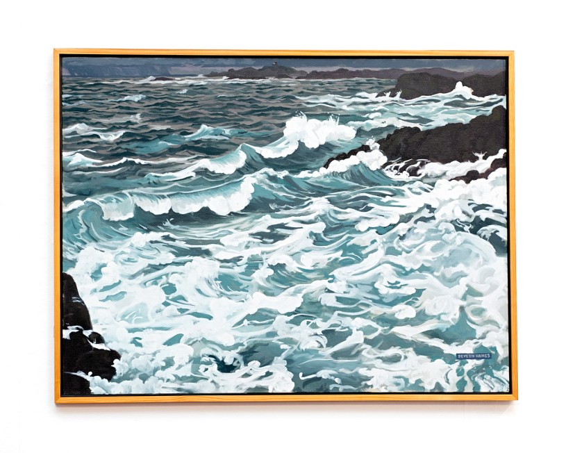 "Storm, 2007 Oil on canvas 38"" x 50"" (framed)