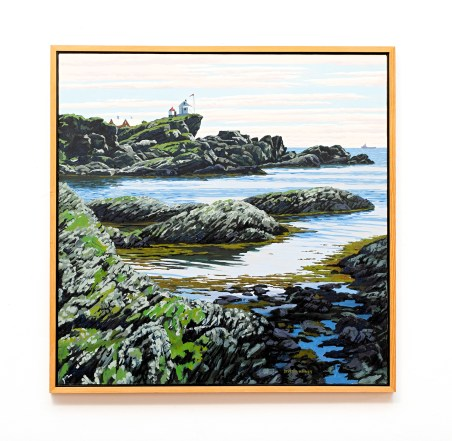 """Skude from the North II, 2007 Oil on canvas 38"""" x 38"""" (framed) $7500.00"""