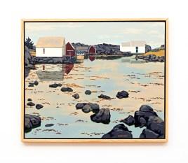 "Haaken's Boathouse Oil on canvas 32"" x 38"" (framed) $8000.00"
