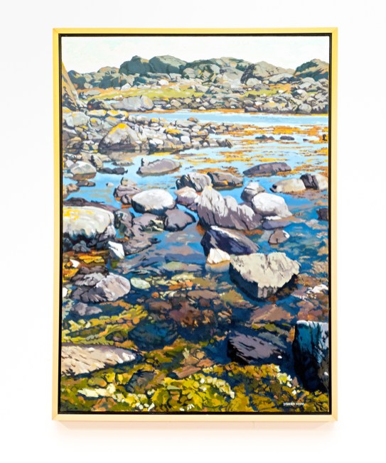 "View from Bryggen Oil on canvas 32"" x 44"" (framed)