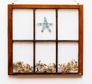 Beach Star Window Mixed media $100.00