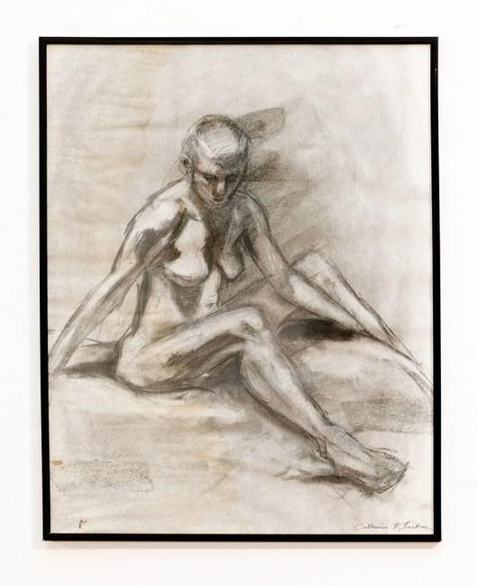 Figure II, Frontal Charcoal & conte $300.00