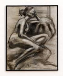 Figure I, Profile Charcoal & conte $300.00