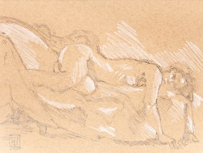 Dee 30 minute pose swan couch, 2020 Graphite $95.00