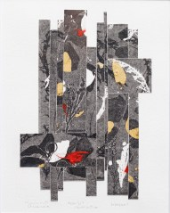 Moonlit Abstraction Monoprint, chine colle Framed SOLD!