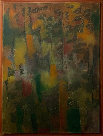 Saturday Night at the Ag Fair Acrylic on canvas Framed $500.00