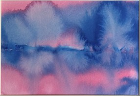 Day Glow, 2020 Watercolor Matted and framed $48.00
