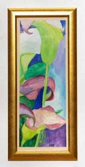 Callas II Watercolor Framed $100.00