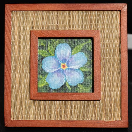 Forget Me Not Acrylic Framed $35.00