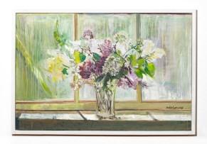 Lilac Flowers, 2019 Oil on canvas Framed $2000.00