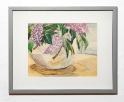Lilacs, 2005 Watercolor Matted & framed $50.00