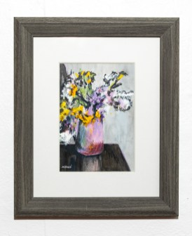 Reflection, 2021 Mixed media Matted & framed $200.00