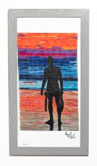 Silhouette, 2020 Embroidery Framed $2000.00