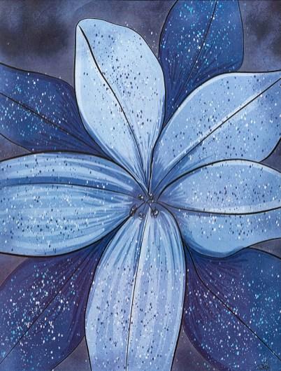 Splatter Flower, 2021 Digital Framed $25.00