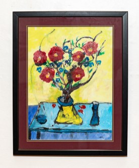 Untitled Acrylic on paper Matted & framed $125.00