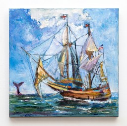 Moby & the Mayflower Oil on canvas $695.00