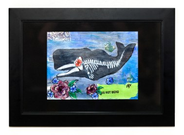 Moby, 2021 Mixed media Matted, framed $120.00