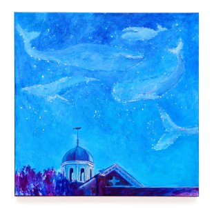Starry Night New Bedford, 2021 Acrylic on canvas $750.00