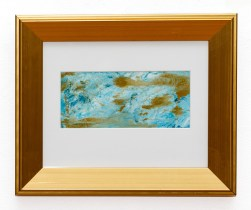 Sea Foam Monotype, oil ink on paper Matted and framed $60.00