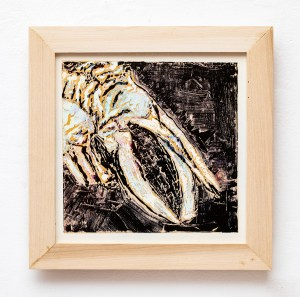 KOBO 1/1 Monotype, oil ink on paper mounted on canvas Framed