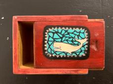 Susan Hauck Faux Whalebone Ditty Box - 2 Wood, paint $135.00