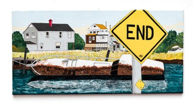 Don Hammontree Abandoned Yacht, Queens Acrylic & ink $225.00