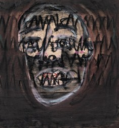 Mark & Lily Gleicher The Vamp Mixed media on board $200