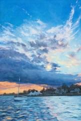 John Jameson Mattapoisett Harbor Oil on canvas $5000