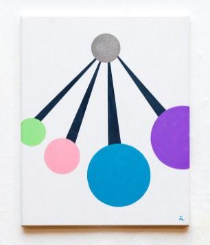 Michelle Lapointe Pendulum, 2021 Acrylic on canvas $300