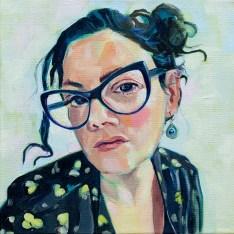 Stephanie J. Sherman Self Portrait Yellow Green, 2021 Oil on canvas NFS