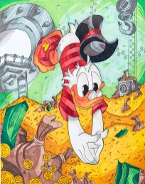 Nathan Amaral Duck Tales Ink $200