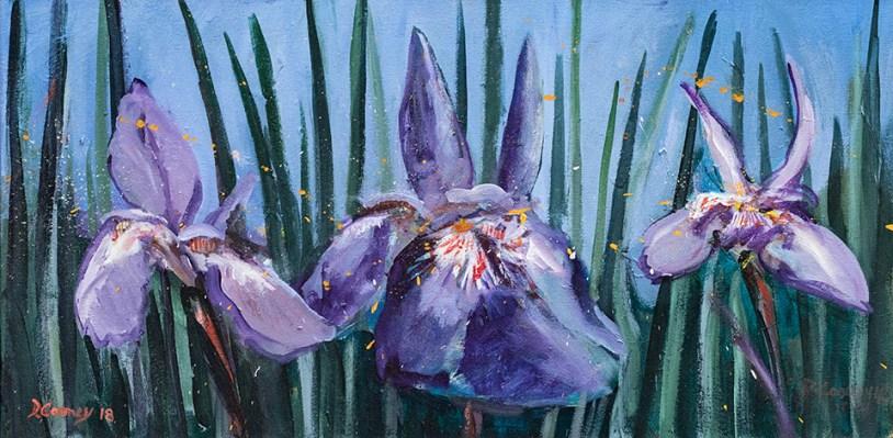 Dan Cooney Three Irises Acrylic on canvas $500