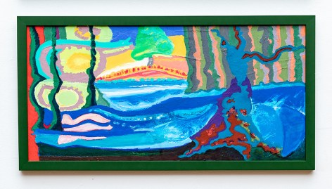 Susan Gilmore The Sour Wood Seeks Revenge, 2020 Oil pastel on canvas $625