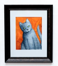 Lisa Goulart Happy Cat, 2019 Watercolor NFS