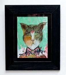 Melanie Ducharme Wise Cat, 2021 Mixed media $120.00