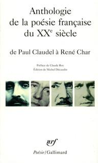 """Résultat de recherche d'images pour """"anthologie de la poésie française de claudel a char"""""""