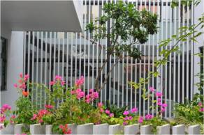 Amidst lush greens, this transparency among spaces, the multiple balconies and courtyards.