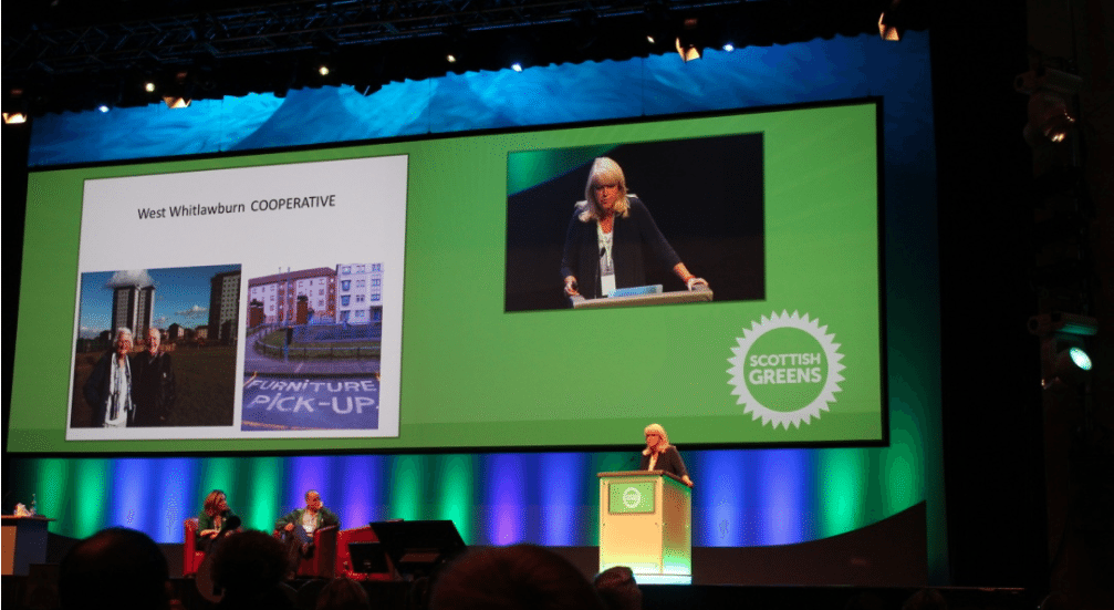 Lesley Riddock at The Scottish Green Party
