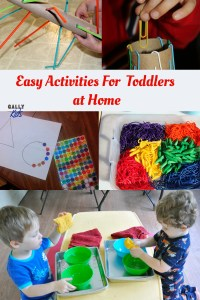 Easy activities for toddlers that you can easily do at home. Make every day count, make every day an activity day with these crafts, games and more..