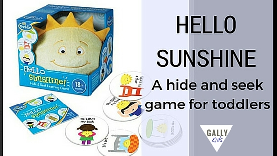 """This is a simple game for toddlers but you'll be surprised at how much fun your child is going to have with """"Sunshine"""". If you don't wish to buy the toy, you can also easily do this with a favorite toy that your child already has. This is an educational...@gallykids"""