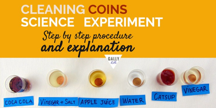 Cleaning Coins experiment with explanation. Why do pennies get cleaned with a vinegar + salt solution. The science behind it explained.