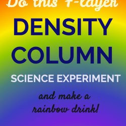 Seven Layer Density Column Science Experiment