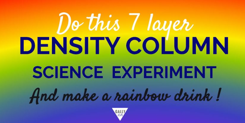 Seven Column Density Science Experiment - Explore the density of liquids with this colorful experiment! Step by step procedure, video and explanation included